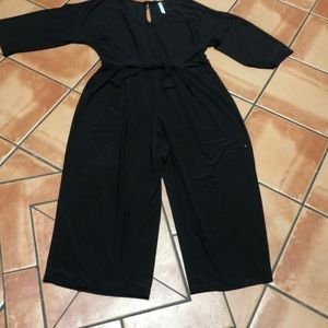 NY Collection Woman 2X Black Jumpsuit